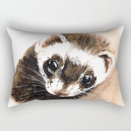 Ferret portrait Rectangular Pillow