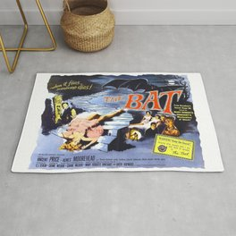 The Bat, vintage horror movie poster Rug