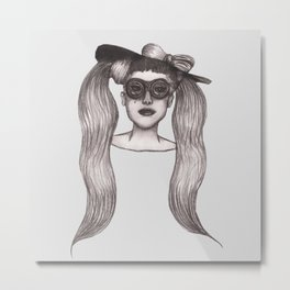 Lady Government Hooker Metal Print