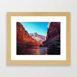 Floating the Colorado *resized* Framed Art Print