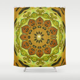 Thrill of Generosity Mandala Shower Curtain