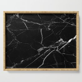 modern black marble look Serving Tray