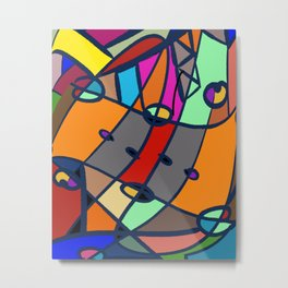whattheline artworks Abstract modern street Metal Print