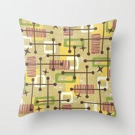 Mid Century Modern Abstract Pattern 834 Throw Pillow