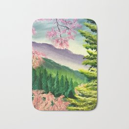 Cherry trees in spring Bath Mat
