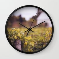 wine Wall Clocks featuring Wine by Simon Laroche