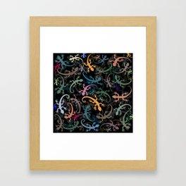 Leaping Lizards Framed Art Print