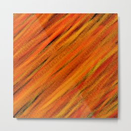 Rough Red Embers Abstract Metal Print