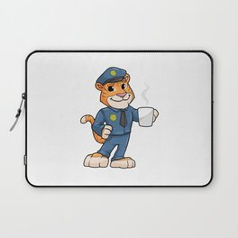 Tiger as Police officer with Police hat and Drink Laptop Sleeve