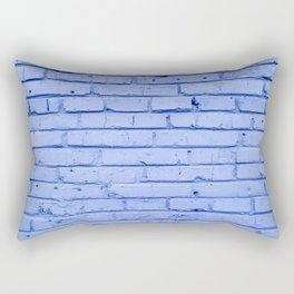 Blue Bricks Rectangular Pillow