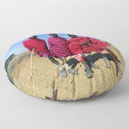 3 African Men from the Maasai Mara Floor Pillow