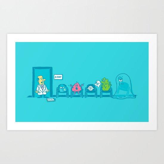 Strange day at the X-ray room Art Print