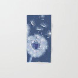 Love Blue Dandelions Hearts Design Hand & Bath Towel