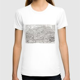 Vintage Map of Rome Italy (1721) 2 T-shirt