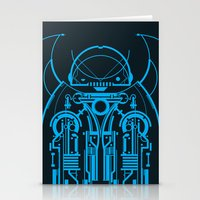 robot Stationery Cards featuring Robot by Martin Laksman