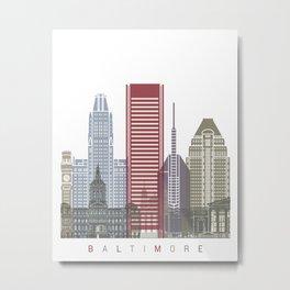 Baltimore V2 skyline poster Metal Print