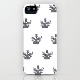 Watercolor Outlander Crown & Thistle iPhone Case