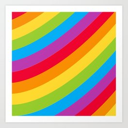 St Patrick's Day Lucky Rainbow Pattern Art Print