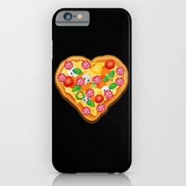 Heart Shaped Pizza Pizza Lovers Gift iPhone Case