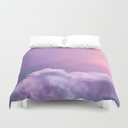 Sunset and Clouds   Blush Pink   Unicorn   Sky Duvet Cover