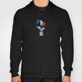 Dominican Flag on a Raised Clenched Fist Hoody