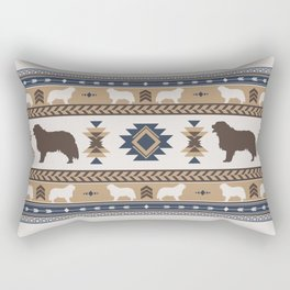 Boho dogs | Berner Sennenhund/Bernese mountain dog tan Rectangular Pillow