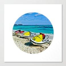 Fun time at ocean Canvas Print