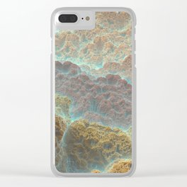 Coral Mountains Clear iPhone Case