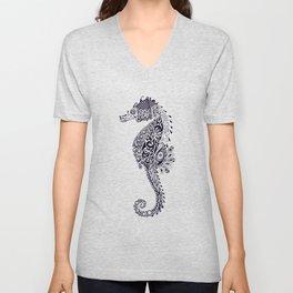 Seahorse Doodle Unisex V-Neck