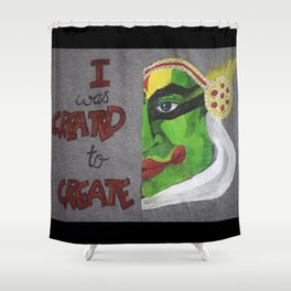 01PA10 | Kathakali | Abstract Painting | Artist Amiee Shower Curtain