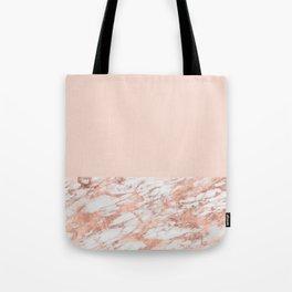 Blush massarosa - rose gold marble Tote Bag