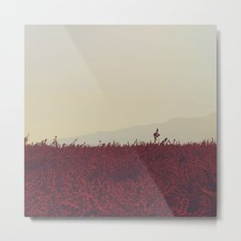 Field of Red Metal Print