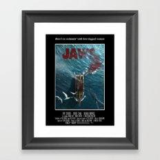 Jaws - 1975 variant Framed Art Print