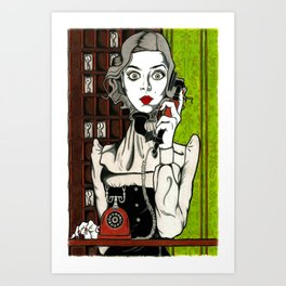 Evelyn Couteau - Hotel Cerk - Gothic Beauty Art Print