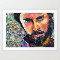 jared leto Art Prints featuring Jared Leto by Ilya Konyukhov