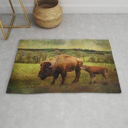 Bison and Calf Rug