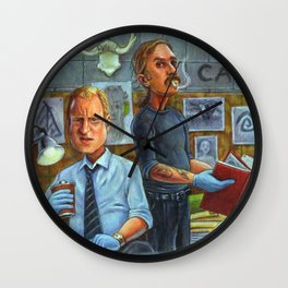 True Detective: Marty Hart and Rust Cohle Wall Clock