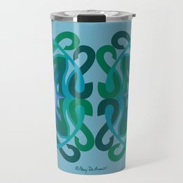 Safe Mandala x2 - Blue Green Travel Mug