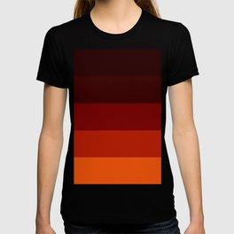 Orange Ombre Stripes T-shirt