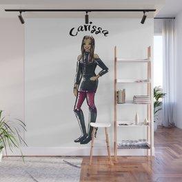 Custom Personlized Fashion Sketch - Carissa Wall Mural