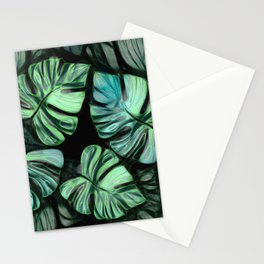 Tropical Foliage 10 - Monstera Deliciosa Stationery Cards
