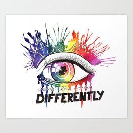 Rainbow Autism Awareness Art Print