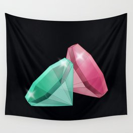 Precious red and green stones . Wall Tapestry