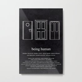 Being Human - Doors Metal Print