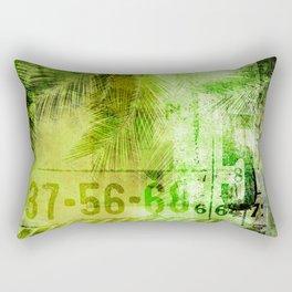 Green Urban Tropics Rectangular Pillow