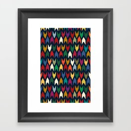 christmas arrows indigo Framed Art Print