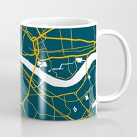 london map Mugs featuring London Map by Studio Tesouro