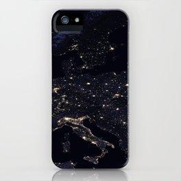 Europe at Night iPhone Case