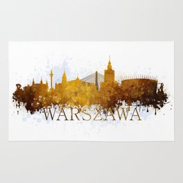 Warsaw in autumn tones Rug