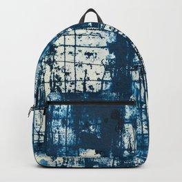 Graffiti Cyanotype Abstract Print Backpack
